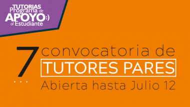 VI Convocatoria de Tutores Pares